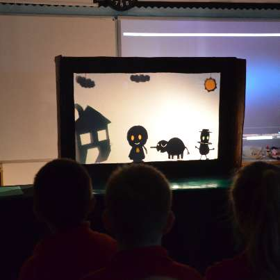 shadow puppet show at stpeters