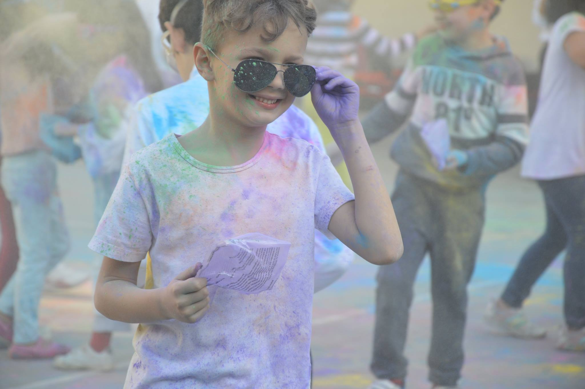 C2 celebrated the Holi Festival related to their PBL topic on World Festivals