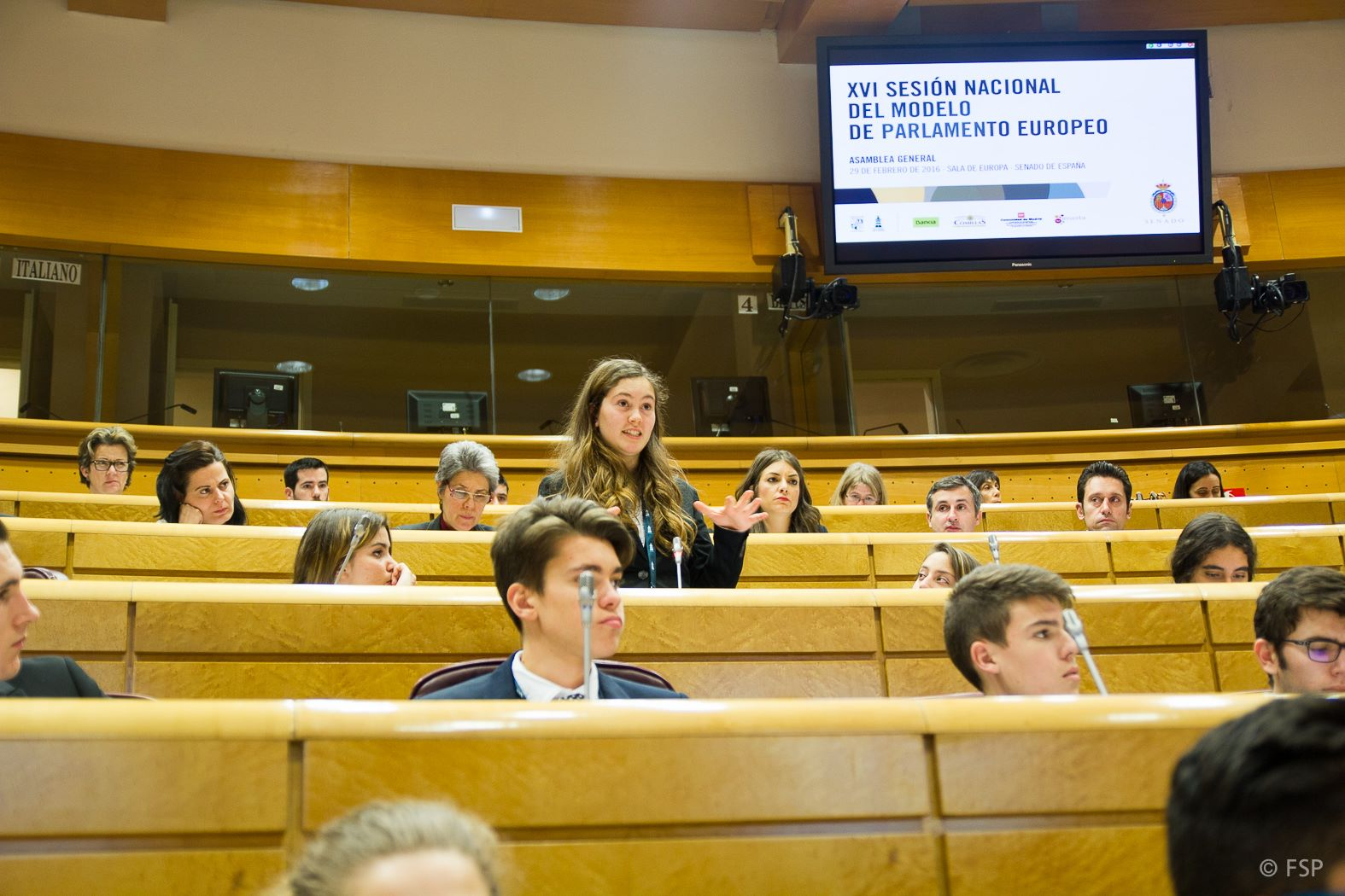 Carlota Moyano during her intervention